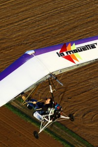 Gerard Thevenot flying his hydrogen-powered Channel crosser.