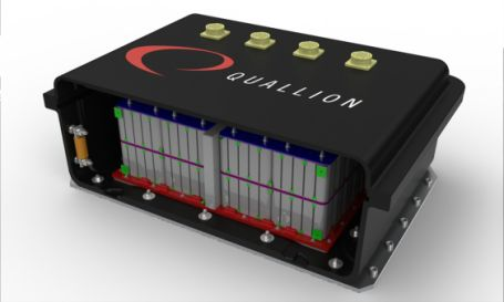 Quallion truck battery, 1/4 the weight of a comparable lead-acid battery.  Quallion also makes aerospace batteries