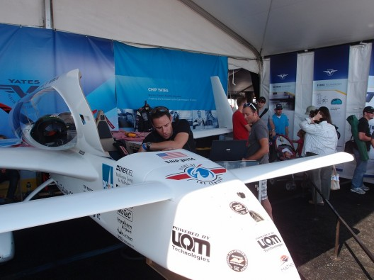 Chip Yates inspects Long-ESA after Saturday's record flight
