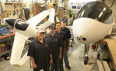 "Synergy's ""Fab Four"" build team, augmented by other friends and family members, continues progress on the advanced flight vehicle"