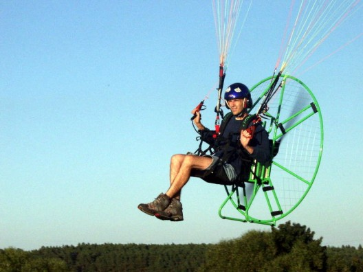 etlantic Project's initial plan is to use a motor similar to that on this Rotex text paramotor