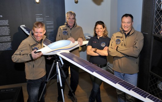Part of the SolarStratos team, with (left to right)