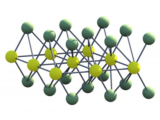 Three-layer sandwich of deselenide-tungsten-diselenide.  Illustration: UT Vienna