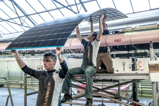 17,000 new high-efficiency solar cells will charge the plane's batteries