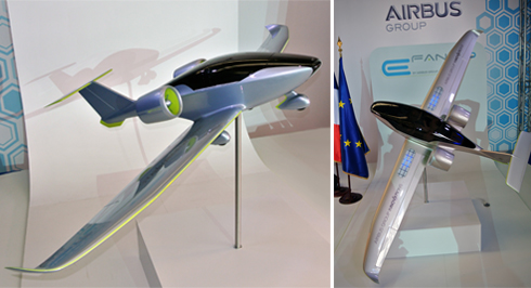 E-Fan models on display at E-Aviation Day