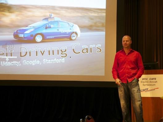 Sebastian Thrun sharing his accomplishments at EAS VIII