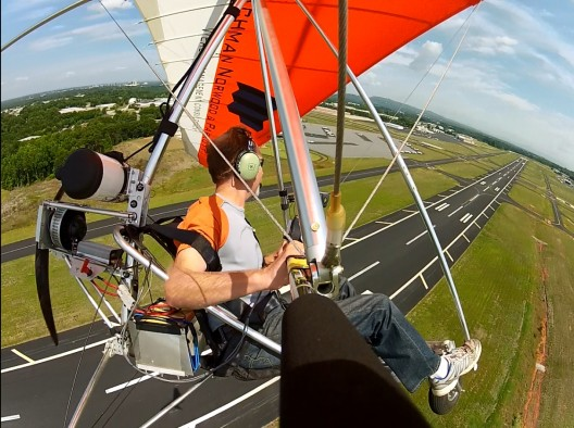 Gliding back to Greenville Downtown Airport (photo courtesy Gary Davis)
