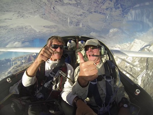 Klaus Ohlmann and Anssi Soila savor the joy of being on top of the world