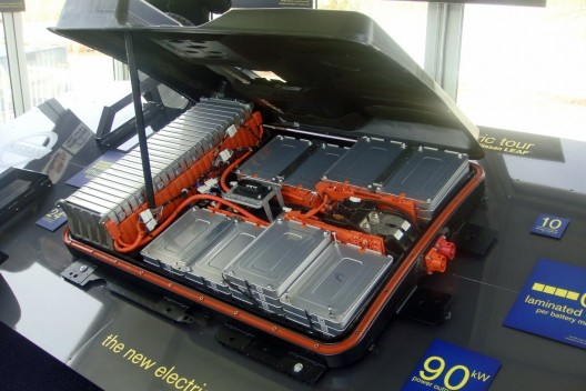 Large numbers of individual cells help drive down unit costs as production increases.  This pack is from Nissan's Sunderland, UK plant