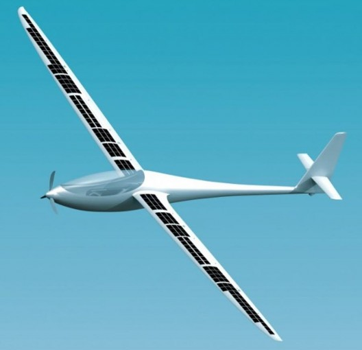 Conceptual drawing of Duckhawk with range-extending solar cells