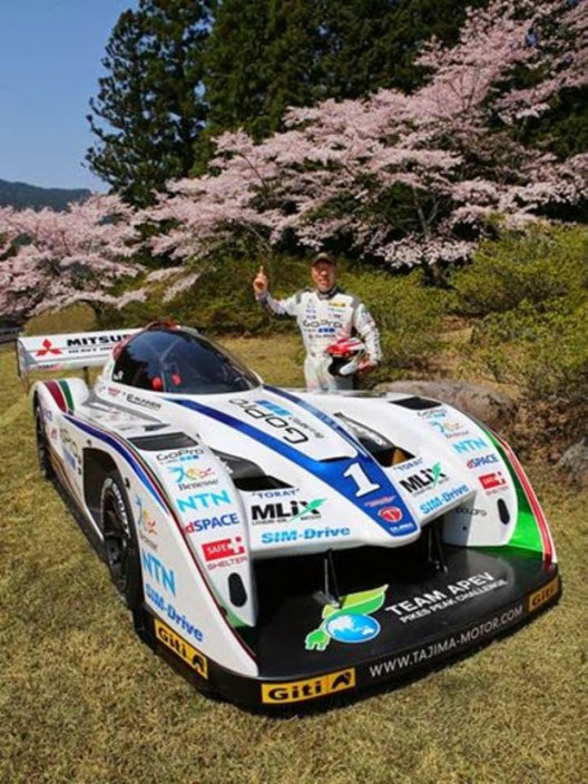 """""""Monster"""" Tajima with monster electric machine in calmer setting than that on Pikes Peak"""