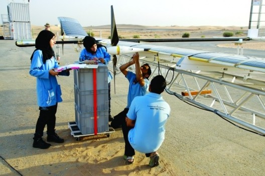 Young workers help prepare Zephyr 7 for record flight