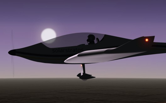 "Seeing ""the stars at noon"" will be part of voyages into the stratosphere.  Rendering by SolarStratos"