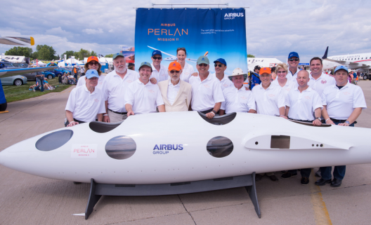 The Perlan team at the official announcement of their new partnership with Airbus, AirVenture 2014