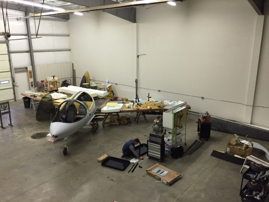 Those who have followed Synergy's development will appreciate the elbow room in the donated new hangar