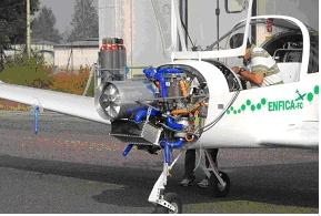 Enfica 200 which cruised on hydrogen fuel cells, but required battery assist for takeoff, climb