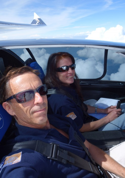 Although Irena Raymond may not be the very first passenger in the Sunseeker Duo, she has gone on to solo the solar airplane she and Eric built together.
