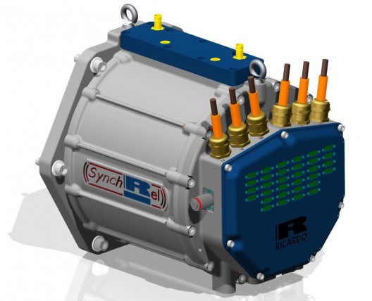 CAD model of Ricardo Rapid Switching Reluctance motor gives a hint of small size from comparison with leads