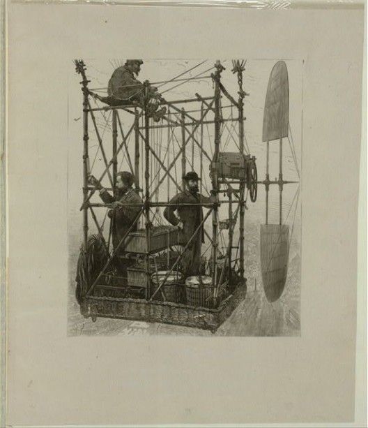 First in electric flight: Tissandier Brothers fly their Siemens motor-powered aerostat in 1883