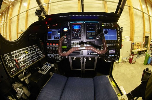 For a massive airplane, the cockpit of SI2 has little wiggle room