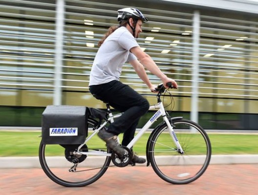 Test e-bike with large Faradion battery modules (for ease of manufacture on prototype)