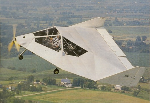 "Many see resemblance to F-117 ""Stealth"" fighter.  Configuration allows high angle of attack with stability"