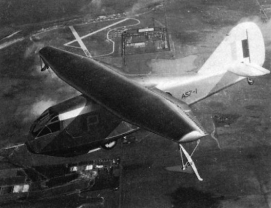 DeHavilland G2 glider with GLAS airfoil tested suction through rearward slots on tops of wings