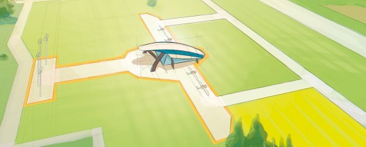 Projected e-Fan factory in Pau, France will mirror airplane's shape
