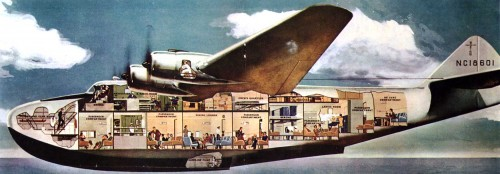 "Boeing 314 ""China Clipper"" had 3,500-mile range, total luxury for passengers - but still had to make stopovers for refueling"