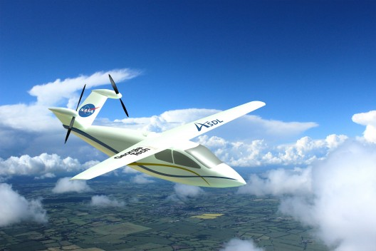 Electric motors enable unusual placement of propellers on tail surfaces