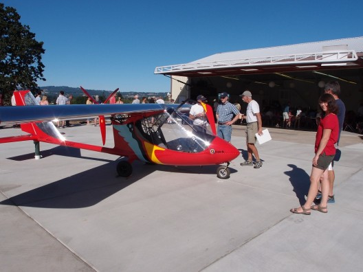 The cynosure of all eyes at EAA Chapter 105's Fly-in Breakfast last month, Quark brought a great many positive responses