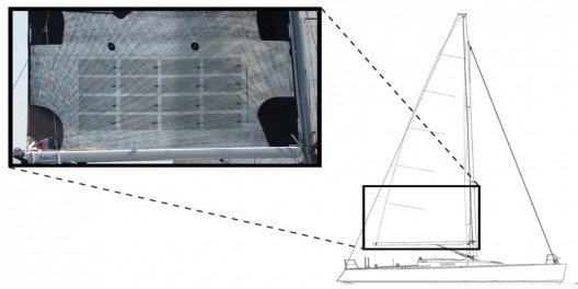 Placement of solar cells on sail - can be on both sides