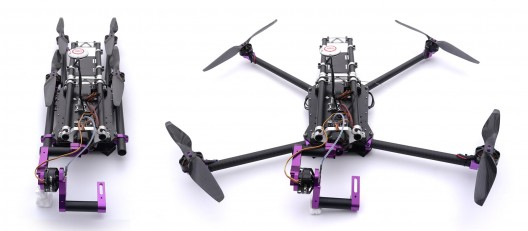 Spidex Pro is more closely related to hobby-type quadrotors, but with sophisticated gimbal mount for cameras