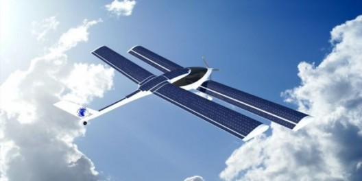 Eraole's tandem wings provide ample room for solar cells, but even those provide only 25 percent of the energy for the airplane's trans-Atlantic flight