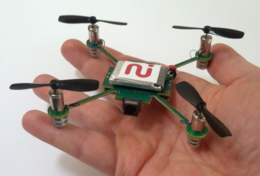 This type of small quadrotor, which may never leave the boundaries of a back yard, does not need to be registered.