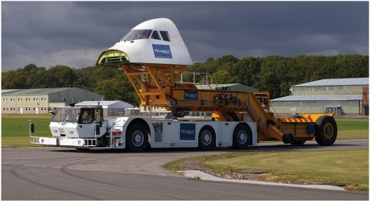 TaxiBot test rig simulates 747 being towed by remotely-controlled tug
