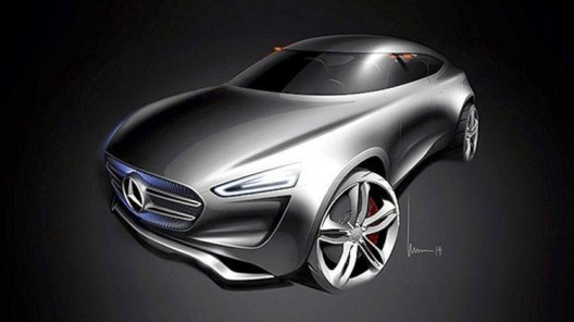 Mercedes G-Code concept car uses solar-energy collecting paint that also makes electricity from the wind passing over its body - even when at rest