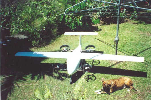 Billy Big Dog with an even bigger quadrotor. Richard misses the dog, but still have the airplane