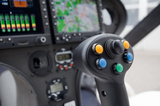 Pilot can fly VC200 literally single-handedly, all controls conveniently located