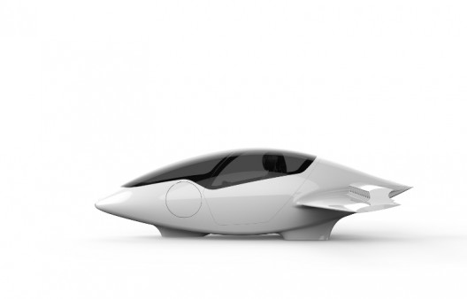Lilium's compact pod shape is highly aerodynamic and somehow contains passengers, batteries and triple-redundant controllers