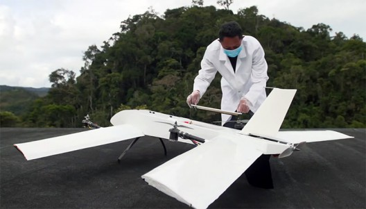 Early form for Vayu drone will be replaced by a sleeker shape, but roughly the same VTOL functionality