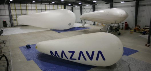 Solar Ship Prototypes in hangar, showing innovative approach to configuration