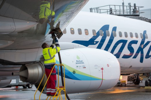 Making fire in a jet engine may prevent future forest fires. Alaska Airlines' first forest-waste-powered flight follows other biofuel demonstrations