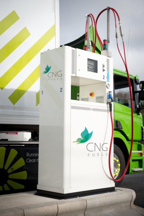 CNG pump, with little to be done to enable pumping biomethane products