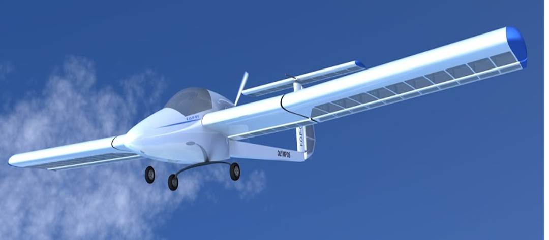 Anime Electric Motor Glider By Aircraft Olympos Ltd