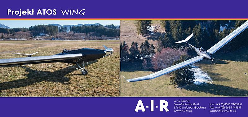 A-I-R ATOS Wing coupled with conventional-type airframe