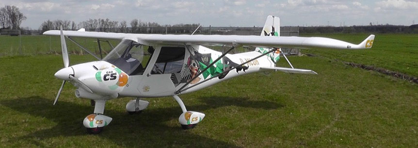 Comco Ikarus C42 Cs Flies On Geiger Engineering Power