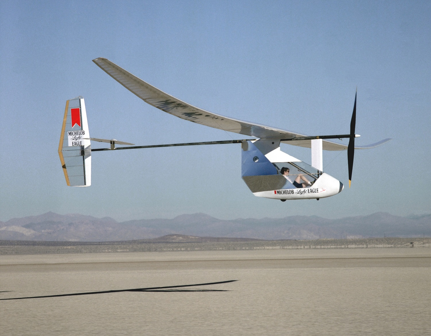 Cafe Foundation Blog Information And Discussion From The 1991 Toyota Aftermarket Power Antenna Wiring Diagram Michelob Eco Eagle Over Roger Dry Lake During 1987 1988 Test Flight This Was Prototype Of Daedalus Which Would Set World Record 72 Miles
